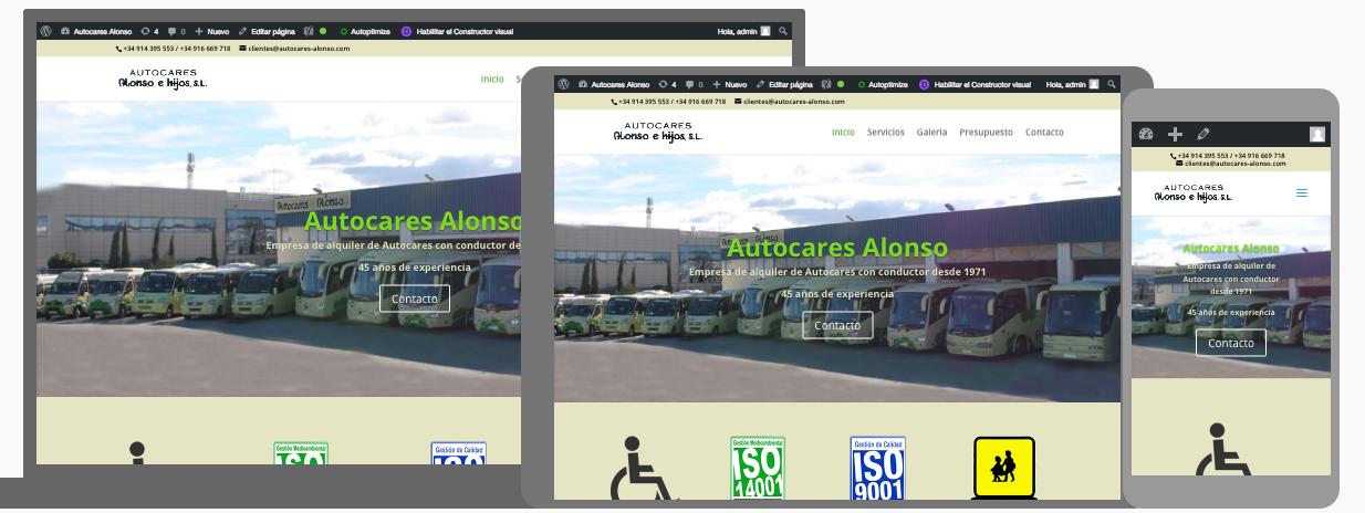 Diseño web para Autocares Alonso