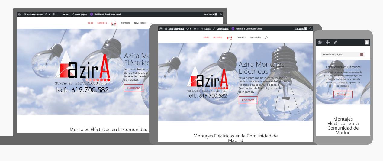 Diseño web para Azira Electricidad